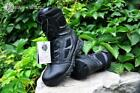 Military Genuine Leather Lace Up Waterproof Black Desert Combat Tactical Boots