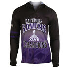 Baltimore Ravens Super Bowl XLVII Champions Poly Hoody Tee on eBay
