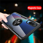 For Xiaomi Mi 8 9SE Redmi Note 7 Magnetic Ring Holder Clear Hard Back Case Cover
