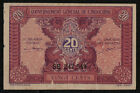 FRENCH INDO-CHINA (P090) 20 Cents ND(1942) F+
