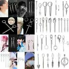 Punk Boys Korean Tassels Earrings Bangtan Boys Girls Ear Stud Doulbe Cross Ring