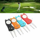 Protable Golf Divot Repair Tool Golf Ball Fork Fix Golf Ball Marker Extendeable