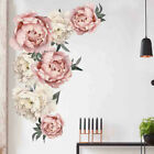 Peony Rose Flowers Wall Sticker Art Nursery Decals Kids Room Home Decor Gift