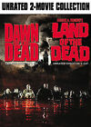 2 MOVIES DAWN OF THE DEAD & LAND OF THE DEAD DVD UNRATED VIDEO FILM DISC HORROR