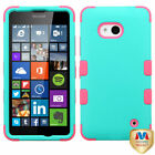 For Nokia Lumia 640 Impact Hard Hybrid TUFF Case +Silicone Protector Cover