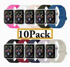 10 Silicone Replacement Bands for Apple Watch Series 4/3/2/1 42mm NEW