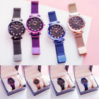 Hot Starry Sky Watch Waterproof Magnet Strap Buckle Stainless Steel Women Gift image