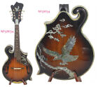 Alulu F5 style Mandolin Solid Maple wood & Spruce top, Eagle inlaid, NF5MI33-34 for sale  Shipping to United States
