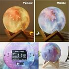 3D Star Moon LED Lamps RGB Color Changes Touch Desk Night Light Hone Decor RK872
