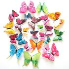 Magnet Butterfly Refrigerator Sticker Removable 3d Wall Sticker Home Decor 12x