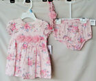 LITTLE ME Pink Floral Blossom Dress with Panty and Headband  NWT