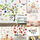 Pink Flower Removable Bedroom Art Mural Vinyl Wall Sticker Diy Decal Home Decor