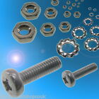 M1.0 1.2 1.6 M2 M2.5 M3 Zinc Stainless Steel Nylon Bolts Nuts Washers-Multi Pack