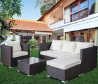 Rattan Garden Furniture Patio Corner Sofa Set Lounger Table Outdoor Conservatory