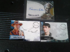 Three Autographed Trading Cards: Smallville: Angel: Farscape:Novak:Podell:Buller