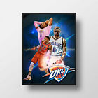 RUSSELL WESTBROOK OKLAHOMA CITY THUNDER FRAMED NBA POSTER PRINT KING on eBay