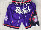 Men's Toronto Raptors Purple Basketball Shorts Retro Vintage Stitched Mens S-2XL