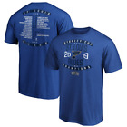 St. Louis Blues 2019 Stanley Cup Champions Goal Crease Roster T-Shirt - Royal