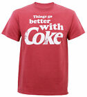 Authentic COCA-COLA Things Go Better With Coke Slim-Fit T-Shirt Red S-3XL NEW $18.64  on eBay