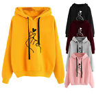 Ladies Women'-shirt Solid Color Hoodie Long-Sleeved Hooded Pullover Tops h8