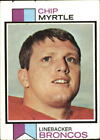 1973 Topps Football Card #269 Chip Myrtle RC - VG-EX