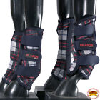 L,M,S, XL Hilason horse fly Boots UV Protection Fleece Lined 4 pack Plaid U-B103