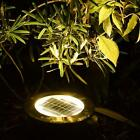 Floor Buried Ground Pathway Garden 8LED Lights Solar Outdoor Under US Light Lamp
