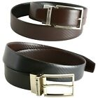 Alpine Swiss Mens Dress Belt Reversible Black Brown Leather Imported from Spain <br/> Please Order 1 Size Larger Than Your Pant Size