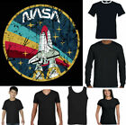 NASA T-SHIRT Mens Logo Space Agency Distressed Astronaut Space Cosmos Top image