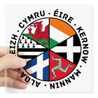Venetian Style Home Decor CafePress Celtic Nations Flags Black Sticker Square Sticker  (1490409935) Gay Home Decor