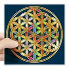 Cafepress Flower Of Life Gold Colored Ii Sticker Square Sticker  (20516075)