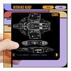 CafePress Star Trek Lcars, Defiant Blueprint Square Sticker  (657475624) on eBay