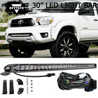 """150W 30"""" Single Row LED Light Bar Lower Bumper + Wirings For 05-15 Toyota Tacoma"""