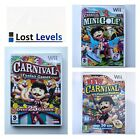 Wii - Carnival Funfair Or Golf - Boxed - VGC - Choose Title