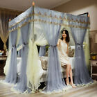 double layers mosquito net lace embroidered netting frames anti-mosquito canopy image