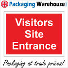 VISITORS SITE ENTRANCE SIGN CS243 SAFETY STICKER RIGID INDOOR OUTDOOR
