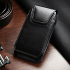 Executive Business Cell Phone Clip Pouch Holder Belt Loop Vertical Case Black