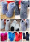 Women Ostrich Feather Winter Fluffy Boots Long Ankle Furry Snow Shoes Warm Snow