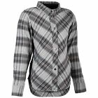Highway 21 Rogue Womens Long Sleeve Button Up Flannel Shirt Pink/Gray