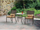 Alexandra Square Bistro 2-chairs W/ Side Table 3-pc Set Outdoor Garden Furniture