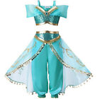 UK Girls Jasmine Costume Live Action Aladdin  PRINCESS Kids Child Fancy Dress