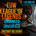 League Of Legends Account LOL Euw Smurf 40,000 - 42,000 BE IP Unranked Level 30