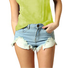 Vintage Ripped Denim Shorts Distressed Washed Jeans Hotpants Size  Womens