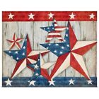 Patriotic Stars Poster Art Print, American Flag Home Decor