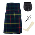 4 Piece Kilt Package with Pin Hose and Sporran - Sizes 30-44 - Hunting Stewart