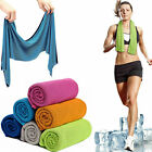 Ice Cold Instant Cooling Towel Running Jogging Gym Sports golf Yoga USA Workout image