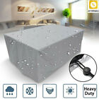 Waterproof Garden Patio Table Cover Outdoor Furniture Shelter Protection Silver