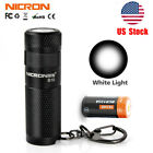 Nicron Pocket USB Rechargeable EDC KeyChain Light LED Flashlight Key Ring 16340