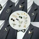 Airplane Smile Little Brooch Pin Unisex Maple Leaf Lapel Suit Collar Badge Gifts