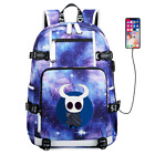 Anime Hollow Knight USB Port Backpack Teenagers Schoolbag Travel bag Knapsack